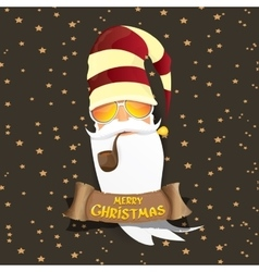 rock n roll santa claus vector image vector image