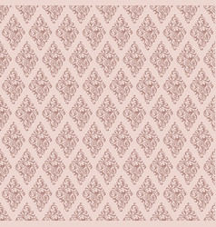 Rosybrown damask decorative pattern background vector