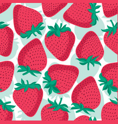 seamless pattern with strawberries graphic vector image vector image
