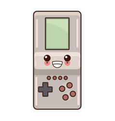 Tetris videogame isolated cute kawaii cartoon vector