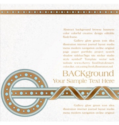 vintage ornate background vector image vector image