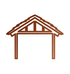 Wooden hut house manger design image vector