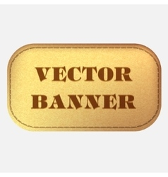 banner Leather label vector image