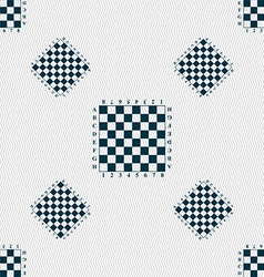 Modern chess board sign seamless pattern with vector