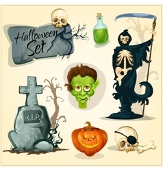 Creepy and horror elemens for halloween designs vector