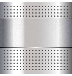 Scratched on chrome metal background 10eps vector