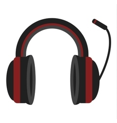 Radio headphones vector