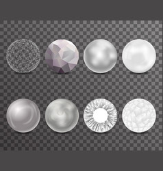 abstract balls burst 3d curl polygonal set symbol vector image