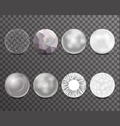 Abstract balls burst 3d curl polygonal set symbol vector