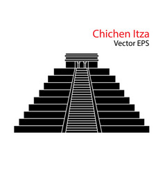 Flat icon of chichen itza mexico isolated vector