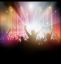disco crowd background vector image