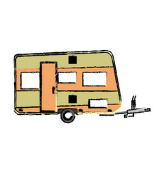 Trailer Camping Vehicle Home Transport Vector Image