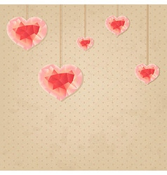 Valentines day vintage background vector