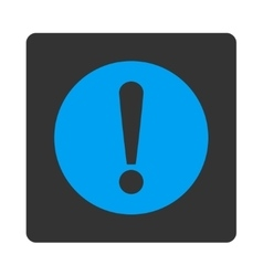 Problem flat blue and gray colors rounded button vector