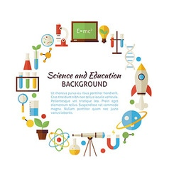 Flat style circle template collection of science vector
