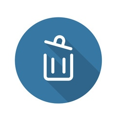 Container button trash can icon vector