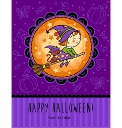 Childish halloween card in vector