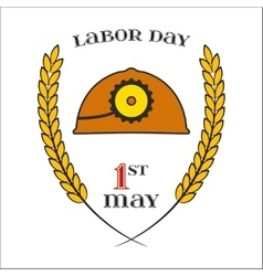 May 1st labor day helmet icon vector