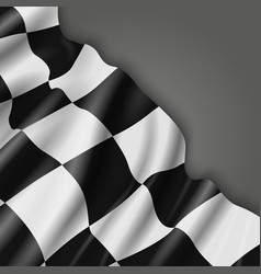 Abstract background with checkered racing vector image vector image