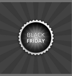Black friday round sticker color banner vector