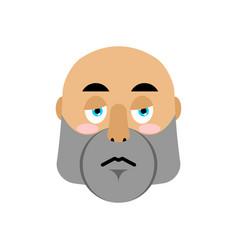 brutal man sad emoji men face sorrowful emotion vector image vector image