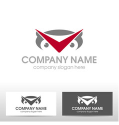 business logo design with owl vector image vector image