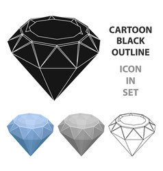 Diamond icon in cartoon style isolated on white vector