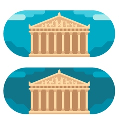 Flat design parthenon vector