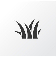 grass icon symbol premium quality isolated sedge vector image