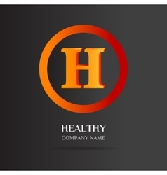 H Letter logo abstract design vector image vector image