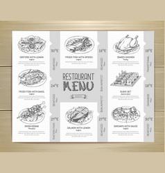 Hand drawn restaurant menu design vector