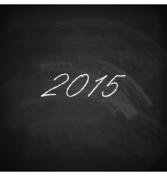Happy new year 2015 holiday background with chalk vector