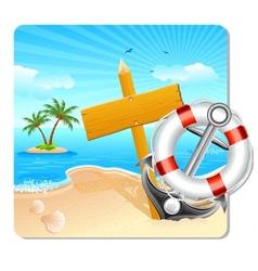 Holiday on beach vector