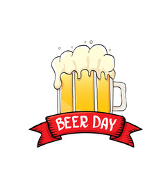 International beer day label vector