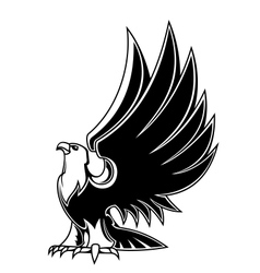 Majestic eagle mascot vector