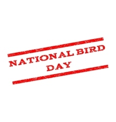 National bird day watermark stamp vector