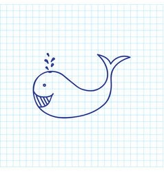 of animal symbol on whale vector image vector image
