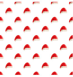 Red hat with pompom of santa claus pattern vector