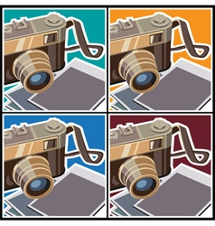 retro rangefinder camera vector image