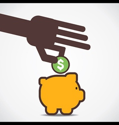 save your money in piggy bank vector image