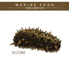 Sea cucumber marine food vector