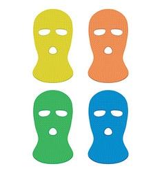 Ski masks vector