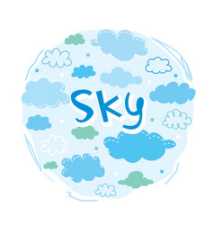 Sky and cloud collection vector