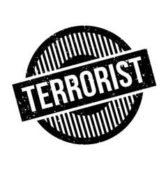 Terrorist rubber stamp vector