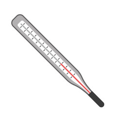 Thermometer scale measuring icon vector