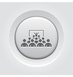 Training Icon Grey Button Design vector image vector image