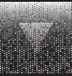 triangle silver halftone dot abstract background vector image