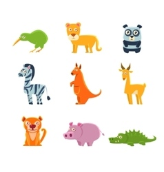 Exotic toy fauna collection vector