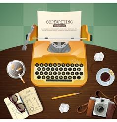 Journalist Vintage Typewriter vector image