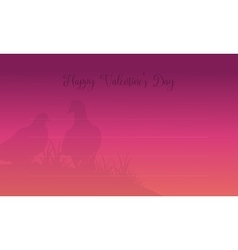 Card valentine day romance theme vector